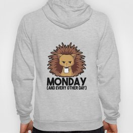 Morning Grumbler Hedgehog Needs Coffee Monday Gift Hoody