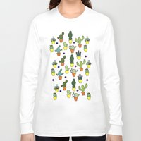 cacti Long Sleeve T-shirts featuring Cacti by Alisse Ferrari
