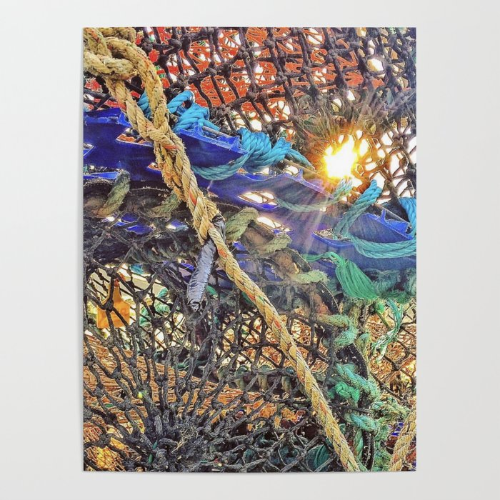 Lobster pots Poster