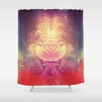 lovecraft Shower Curtains featuring shryyn yf lyys by Spires