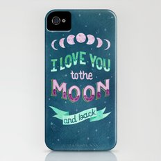 I Love You to the Moon and Back iPhone (4, 4s) Slim Case