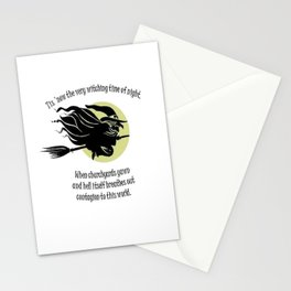 Tis Now The Witching Time Of Night Stationery Cards