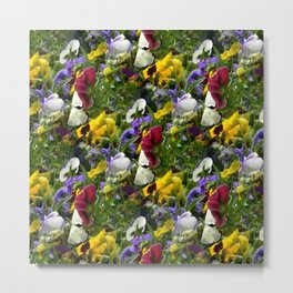 Pansies The Color World of Flowers Metal Print