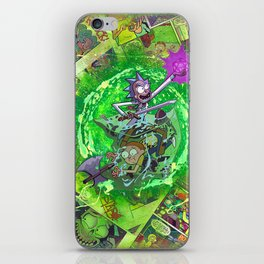 Rick & M - Dungeons and Dragons Comic Collage Portal Comic Book Art iPhone Skin