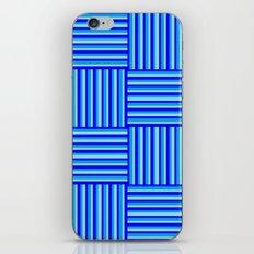 Havana Cabana - Blue Weave Stripe iPhone & iPod Skin
