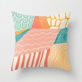 beach quilt Throw Pillow