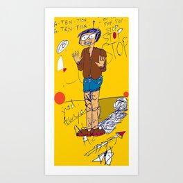 PANIC - yellow Art Print