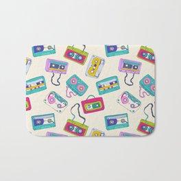 Vintage Cassette Tape Pattern Bath Mat
