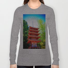 Japanese Pagoda Long Sleeve T-shirt