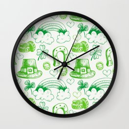 sant ptrick day, irish gift, ireland, Wall Clock