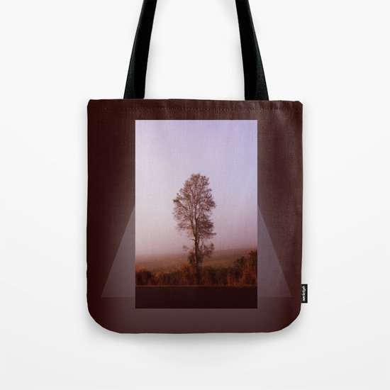 Standing alone in the fog Tote Bag