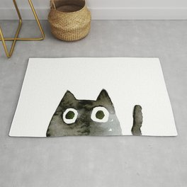 I Love Cats No.13 by Kathy Morton Stanion Rug