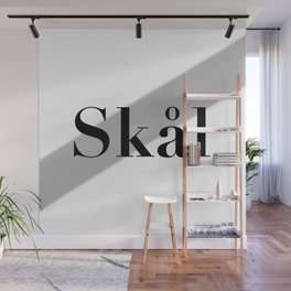 Skål (Cheers) - Black and White Wall Mural