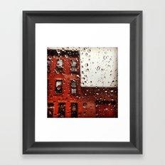 Rainy Day in Brooklyn Framed Art Print