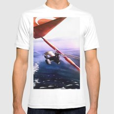 It's Reel - Gone Fishing MEDIUM Mens Fitted Tee White