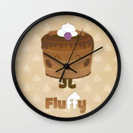 Fluffy Chocolate Mousse Cake Wall Clock