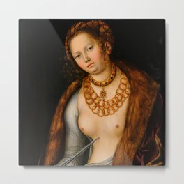 "Lucas Cranach the Elder ""Lucretia"" 12. (1510-1513) Metal Print"