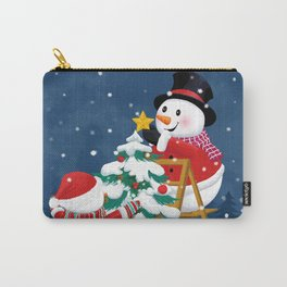 Christmas Snowman Family Series II Carry-All Pouch