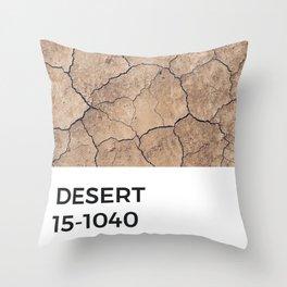 Desert Clay Tan Neutral Pantone Chip Throw Pillow