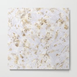 Soft gold marble stone Metal Print