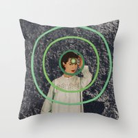 sisters Throw Pillows featuring Sisters by Canson City