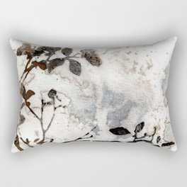 Desaturated Jungle Botanical Art Rectangular Pillow