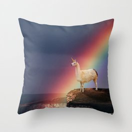 Llamacorn Throw Pillow