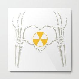 Rad Tech X Ray Skeleton Radiology Technican Gift Metal Print