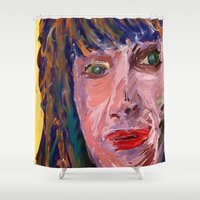 michael scott Shower Curtains featuring Michael by Paul Kimble