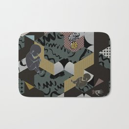 Cosmic child | Chocolate version Bath Mat
