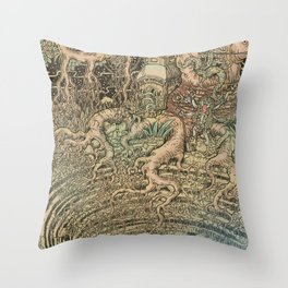 The Step Well Throw Pillow