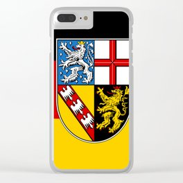 Flag of Saarland -Sarre Clear iPhone Case