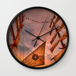 Tall Ship BAE Guayas, Ecuador Wall Clock