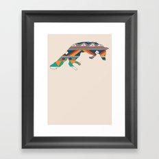 Graphic Foxy Framed Art Print