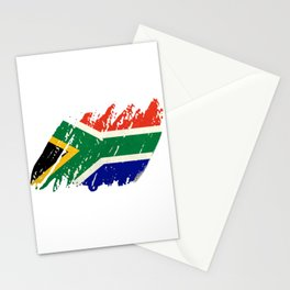South Africa Flag - Vintage Look Stationery Cards