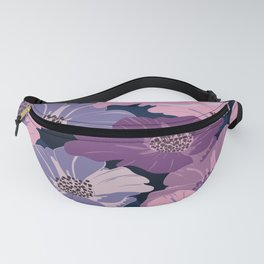 Violet flowers seamless pattern Fanny Pack