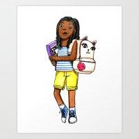 Kitty Backpack Art Print