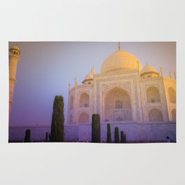 Morning Colors over Taj Mahal Rug