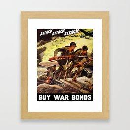 Buy War Bonds -- WW2 Propaganda Framed Art Print