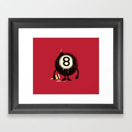 Lucky 8th Framed Art Print