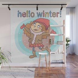 Hello Winter Wall Mural