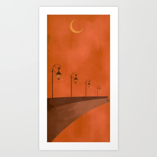 Dusk Lights Art Print