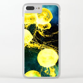 Electric Jellyfish in the Ether Clear iPhone Case