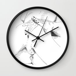 what what in the butt Wall Clock