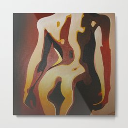 Back View Of A Nude Woman Metal Print