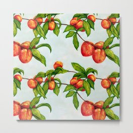 Under The Peach Tree Metal Print