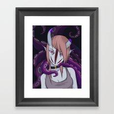 Girl with her boyfriend Framed Art Print