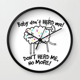 Baby Don't Herd Me Wall Clock