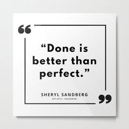 33   | Sheryl Sandberg Quotes | 190902 Metal Print