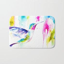 Colorful Hummingbird Bath Mat